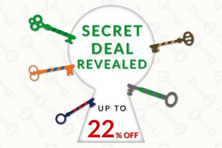 Secret Deal 22% OFF