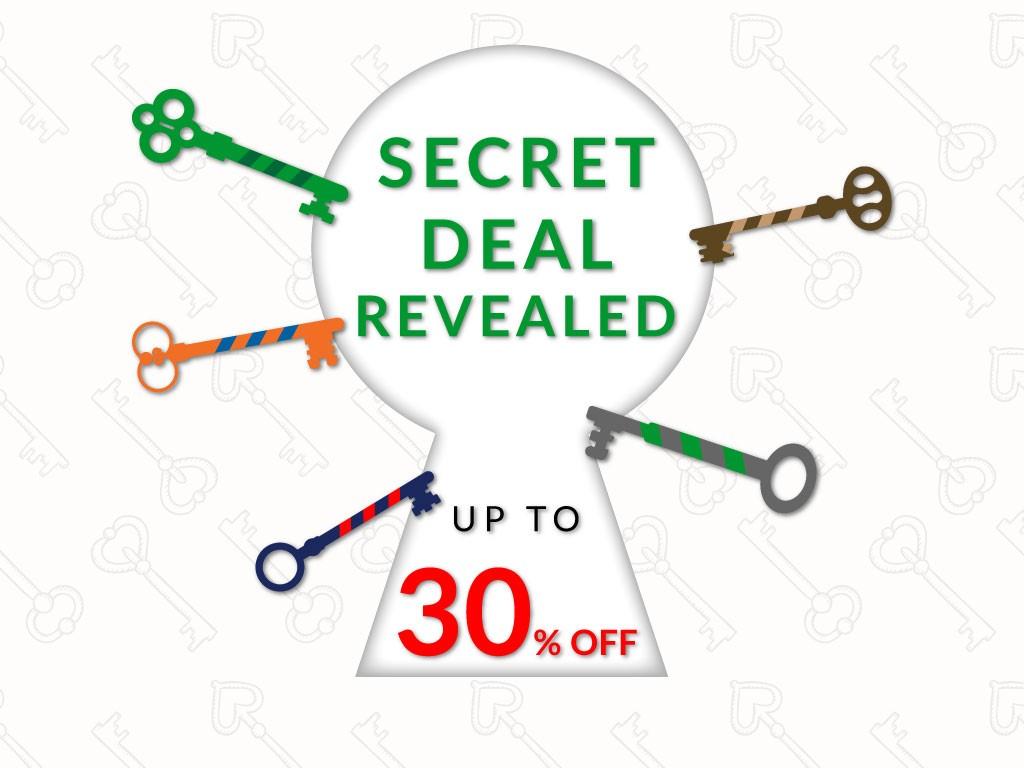 Secret Deal 30% OFF