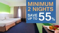 Stay 2 nights and SAVE 55% off