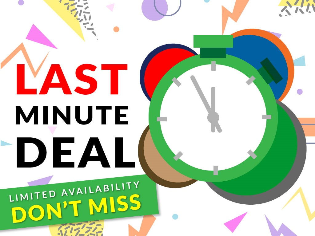 Last Minute Deal-No Credit Card Required